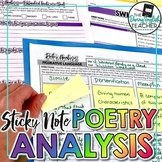 Poetry Analysis Unit with Sticky Notes: Activities, Writin