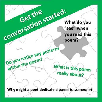 Poetry Analysis: Using Questions to Solve the Puzzle of Poetry