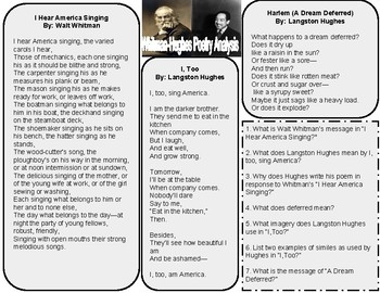 Poetry Analysis - Walt Whitman and Langston Hughes