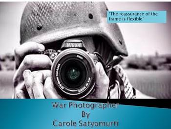 Poetry Analysis: War Photographer by Carole Satyamurti