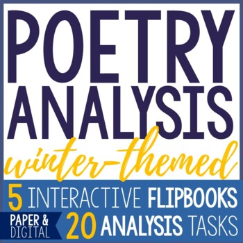 Poetry Analysis - Winter Poems - Interactive Flip Books
