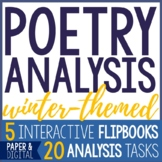 Poetry Analysis - Winter Poems - Interactive Flip Books