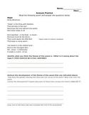 poetry analysis worksheet teachers pay teachers. Black Bedroom Furniture Sets. Home Design Ideas