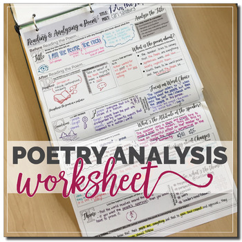 Poetry Analysis Worksheet by Stacey Lloyd | Teachers Pay ...