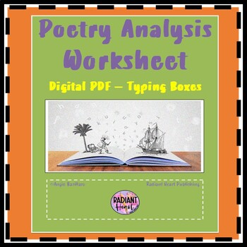 poetry analysis worksheet scaffold for any poem tpt. Black Bedroom Furniture Sets. Home Design Ideas