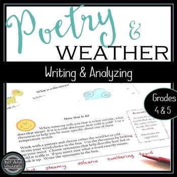 Weather Poems Creative Writing Cross Curricular