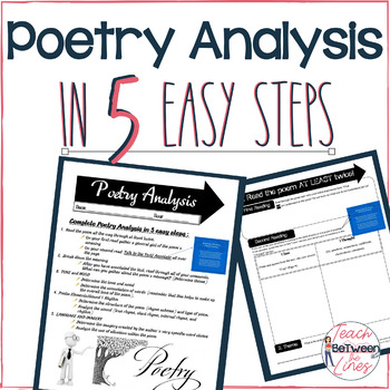 Poetry Analysis in 5 Easy Steps: Lesson, Graphic Organizers, and Assessment!