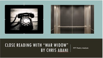 "Poetry Analysis with ""War Widow"" by Chris Abani"