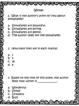 Poetry: Analyzing Poetry Grades 3-4