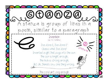 Poetry Anchor Charts (line and stanza)
