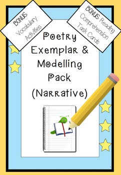 Poetry Annotated Exemplar Rhythm Rhyme Poetic Devices Vocab Comprehension Cards