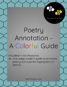 Poetry Annotation - A Colorful Guide