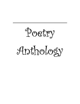 Poetry Anthology - Make your own
