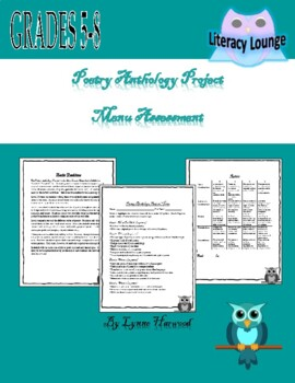 Poetry Anthology Project:  Types of Poetry