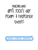 Poetry: April Fool's Poem & Response Worksheet