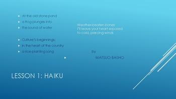 Poetry Around The World: Lesson 1: Haiku