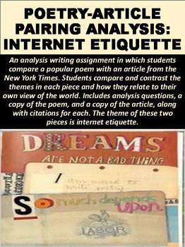 Poetry-Article Pairing Analysis on Internet Etiquette