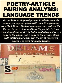 Poetry-Article Pairing Analysis on Language Trends