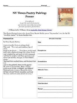 Poetry-Article Pairing Analysis on Power