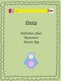 Poetry Assessment Pack