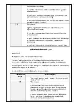Poetry Assessment Task