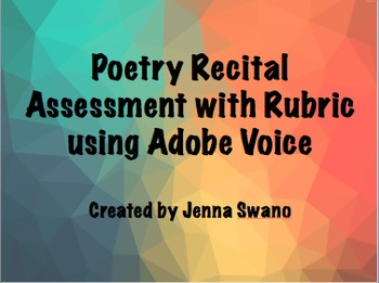 FREE Poetry Assignment using Adobe Voice