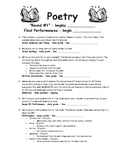 Poetry Assignment/Rubric and Gradesheet