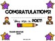 Poetry Author Certificate Freebie!