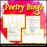 Poetry BINGO - Activity and Quiz