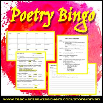 Poetry BINGO - Activity and Quiz