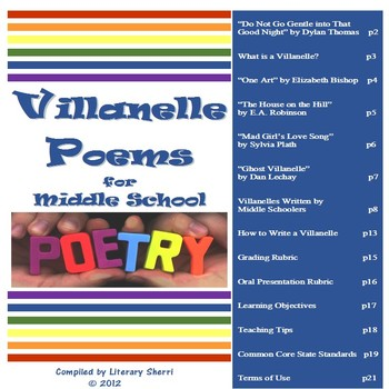 Poetry BUNDLE: 3 Poetry Units & Study Guide (Grades 6, 7, 8)