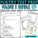 Poetry BUNDLE Vol. 2 Common Core ELA Test Prep Quizzes and Activities (5 POEMS)