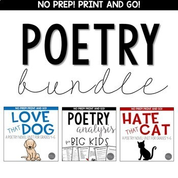 Poetry BUNDLE for Upper Elementary