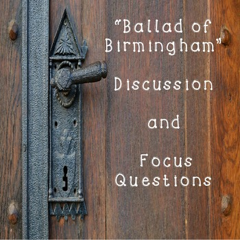 Poetry: Ballad of Birmingham While Your Read Activity