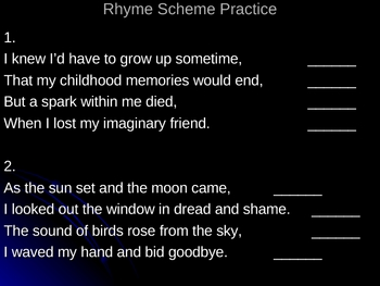 Poetry Basics Powerpoint