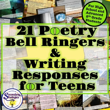 Poetry Bell Ringers Writing Responses | High School | Digital Distance Learning