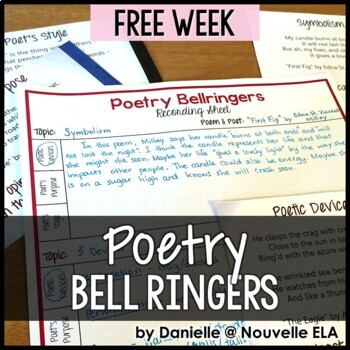 Poetry Bell Ringers - FREE Complete Week by Nouvelle ELA