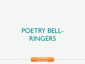 Poetry Bell Ringers (Short Poems for Junior High and High School!)