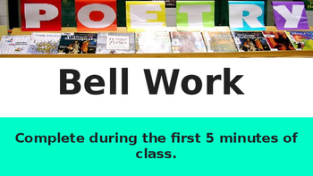Poetry Bell Work
