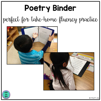 Poetry Binder (to promote literacy at home!)
