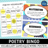 Poetry Vocabulary Posters and Game