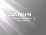 Poetry--Blackout Poems--April is National Poetry Month / F