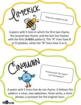 Poetry Blooms! Poetry Printables for Comprehending, Comparing and Writing Poetry