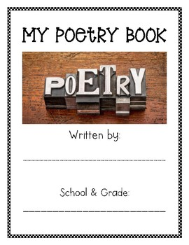 Poetry Book Cover and Table of Contents