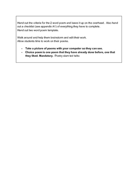 Poetry Book! Lesson Package (Winter/Christmas Themed)
