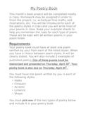 Poetry Book Report Rubric