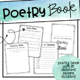Poetry Book - Rough Draft Templates & Published Book
