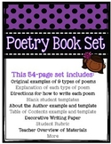 Poetry Writing: Students Create a Book with examples, temp