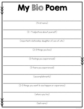 Poetry Book Template