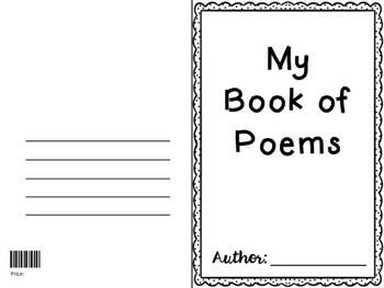 poetry booklet template poetry book templates by teaching east of the middle tpt